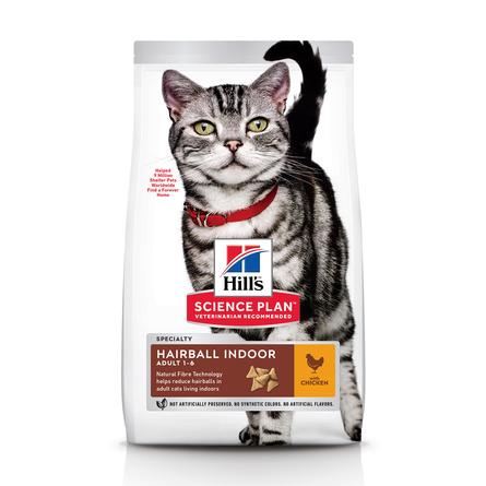 Hill's Science Plan Indoor Cat Облегченный сухой корм для взрослых домашних и малоактивных кошек (с курицей), 1,5 кг фото
