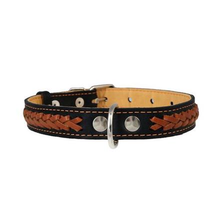 Купить Collar Ошейник для собак двойной, с вплетенной косой, ширина 2, 5 см, длина 38-50 см, черный
