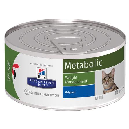 Hill's Prescription Diet Metabolic Weight Management Влажный лечебный корм для кошек для контроля избыточного веса (с курицей), 156 гр фото