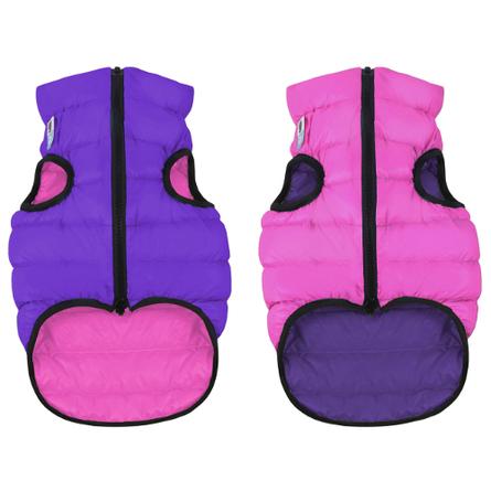 Collar AiryVest Курточка двухсторонняя для собак, розово-фиолетовая фото