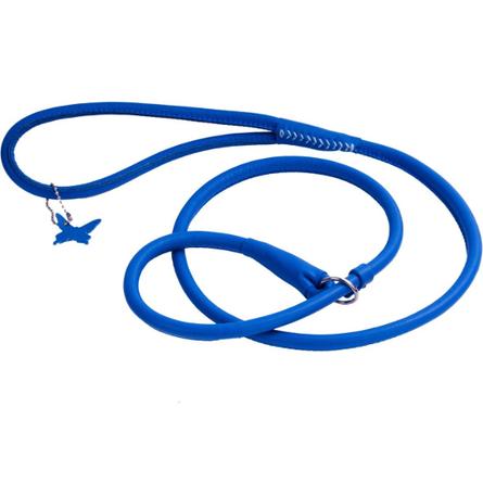 Collar Glamour Поводок-удавка круглый для собак, ширина 6 мм, длина 135 см, синий фото