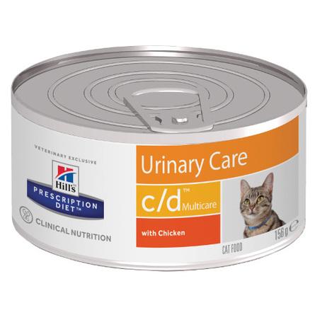 Hill's Prescription Diet c/d Multicare Urinary Care Влажный лечебный корм для кошек для профилактики мочекаменной болезни (с курицей), 156 гр фото