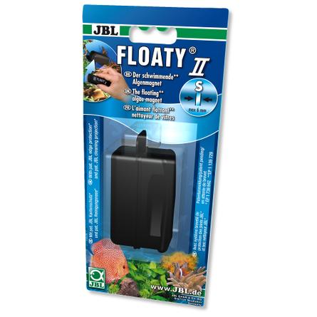 JBL Floaty II S Плавающий магнитный скребок для аквариумных стекол, чёрный