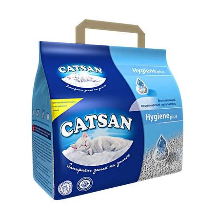Catsan Комкующийся глиняный наполнитель для кошек (антибактериальный), 4,985 кг фото