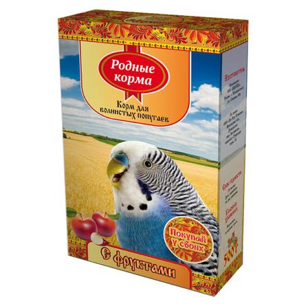 Купить Родные Корма Корм для волнистых попугаев (с фруктами), 500 гр, Родные корма