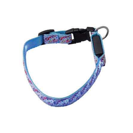 Купить V.I.Pet Ошейник светящийся для собак Акварель с USB-зарядкой, ширина 2 см, длина 40-50 см