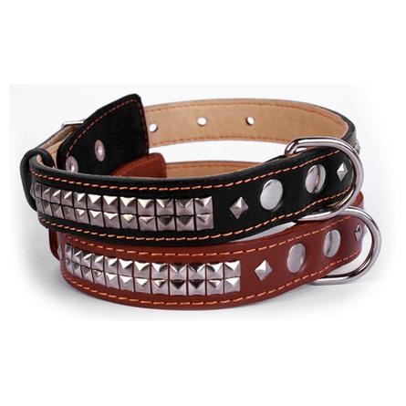 Купить Collar Ошейник для собак двойной, с украшением ''Ромб'', ширина 2, 5 см, длина 38-50 см, коричневый
