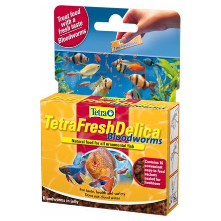 Купить Tetra FreshDelica Bloodworms Лакомство для всех видов рыб, 48 гр