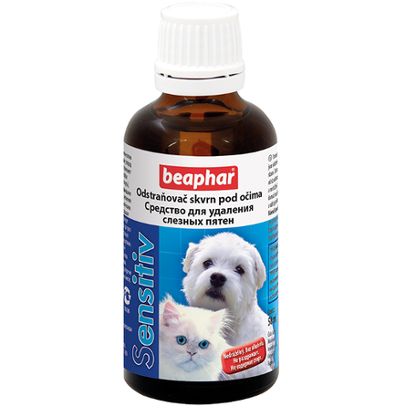 Beaphar Sensitiv Лосьон для удаления слезных пятен у кошек и собак, 50 мл