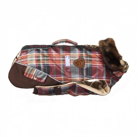 Купить DogModa Doggs Попона Такса теплая, длина спины 45 см, обхват шеи 38 см, обхват груди 54 см, девочка