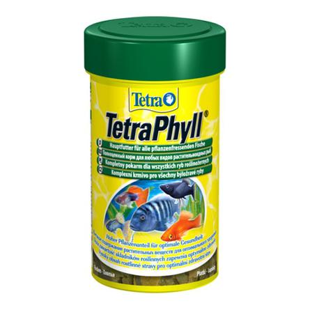 Купить TetraPhyll Основной корм для всех видов растительноядных рыб, 100 мл