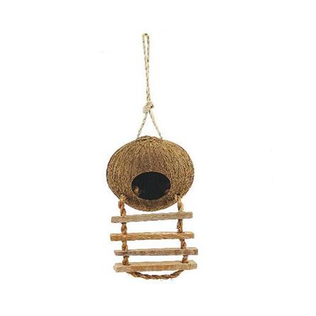 Triol Домик для птиц из кокоса с лестницей