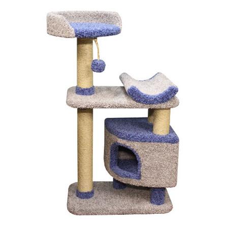 Купить Пушок Монти Комплекс-когтеточка ковролиновая для кошек, цвет в ассортименте, сезаль