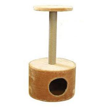 Купить CLP Домик с когтеточкой круглый для кошек, сезаль