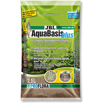 JBL AquaBasis plus Долгосрочный питательный грунт для пресноводных аквариумов, 5 л