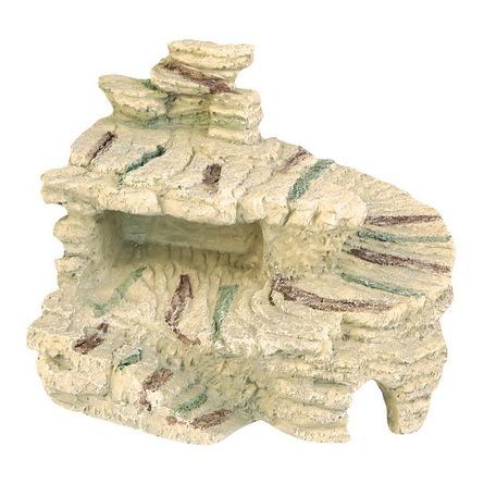 DEZZIE Аквадекор Приют для черепах, пластик, 19х16х15 см