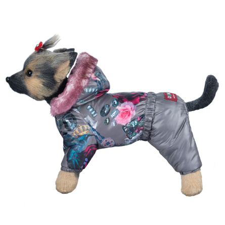 Купить DogModa Комбинезон Гламур для собак, длина спины 32 см, обхват шеи 33 см, обхват груди 52 см, девочка