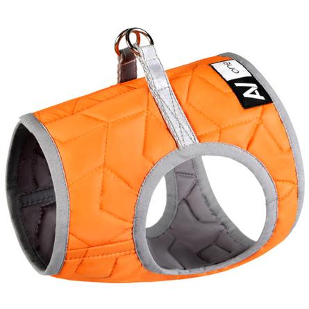 Collar AiryVest One XS4 Мягкая шлейка для собак, оранжевая фото
