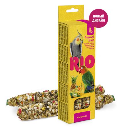 RIO Палочки для средних попугаев (с тропическими фруктами), 150 гр