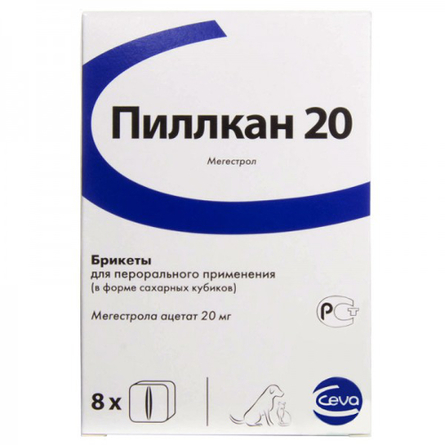 Купить Ceva Пиллкан-20 контрацепция для средних и крупных собак (8 сахарных кубиков)