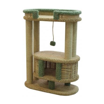 Купить Пушок Фидика когтеточка-комплекс для кошек, сезаль