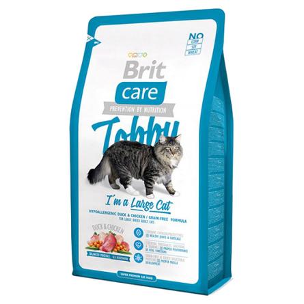 Купить Brit Care Cat Tobby Large Cat Сухой корм для взрослых кошек крупных пород (с уткой и курицей), 2 кг