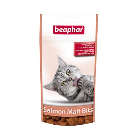 Beaphar Malt-Bits Подушечки для взрослых кошек для выведения шерсти (с лососем), 35 гр фото