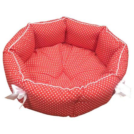 Купить CLP Красный горох S Лежанка круглая для животных, красная