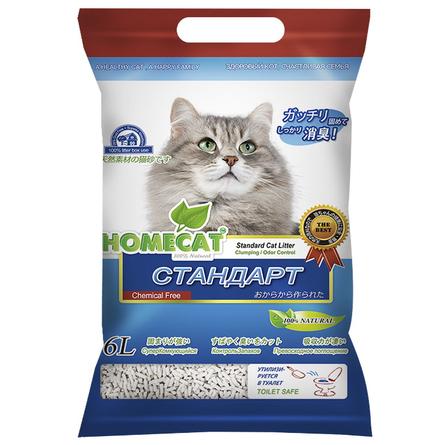 Купить Homecat Эколайн Стандарт Комкующийся наполнитель для кошек, 6 л
