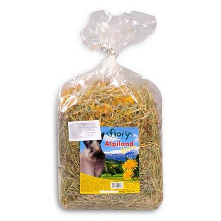 Купить Fiory Fieno Alpiland Yellow Горное сено для грызунов (с одуванчиком), 500 гр