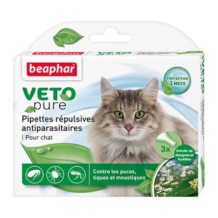 Купить Beaphar Veto Pure Био Капли от блох и клещей для кошек, 3 пипетки
