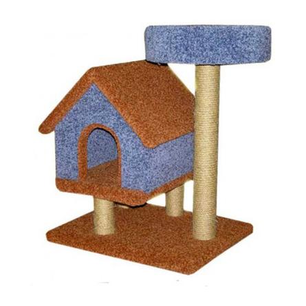 Пушок Избушка с лежанкой когтеточка-дом для кошек, сезаль фото
