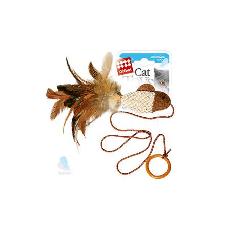 GiGwi Рыбка Игрушка для кошек, с перьями