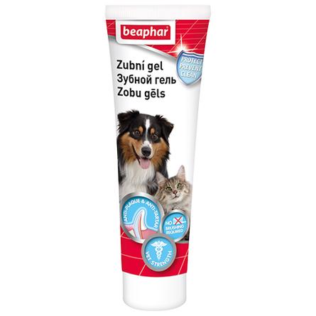 Beaphar Tooth Gel Гель для собак и кошек для зубов и дёсен (со вкусом печени), 100 гр