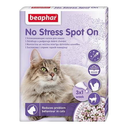Beaphar No Stress Spot On Капли на холку для кошек успокаивающие, 3 пипетки