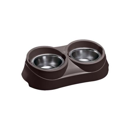 Ferplast Duo Feed 01 Миска для собак, коричневая, металл