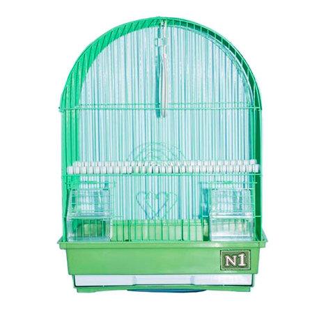 Купить N1 клетка для птиц овальная, укомплектованная (ДКпА400)