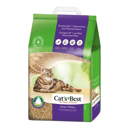 Купить Cat's Best Smart Pellets Древесный комкующийся наполнитель для кошек, 10 кг, Cat's Best
