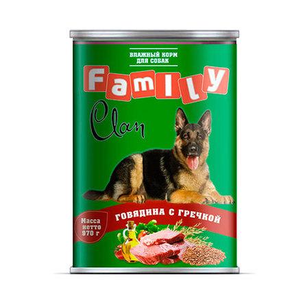 Clan Family Паштет для взрослых собак всех пород (с говядиной и гречкой), 970 гр фото