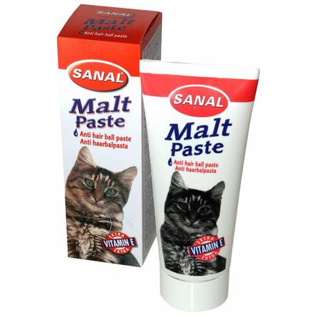 Sanal Malt Past Паста для кошек для вывода шерсти