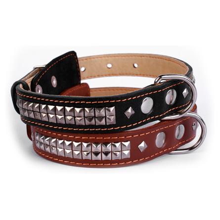 Купить Collar Ошейник для собак двойной, с украшением ''Ромб'', ширина 2, 5 см, длина 38-50 см, черный