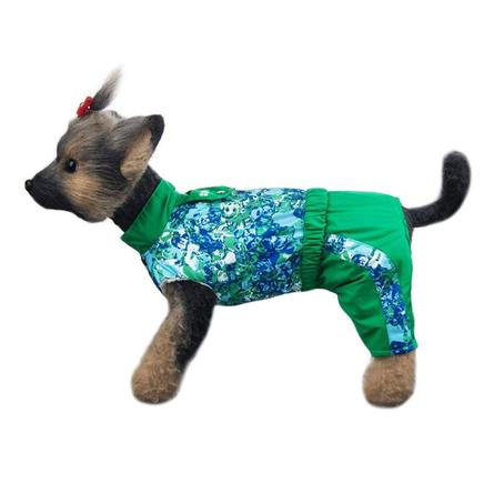 Купить DogModa Комбинезон Грин для собак, длина спины 28 см, обхват шеи 29 см, обхват груди 45 см, унисекс