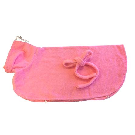 CLP Халатик для домашних животных, длина спины 37 см, высота 24 см, розовый
