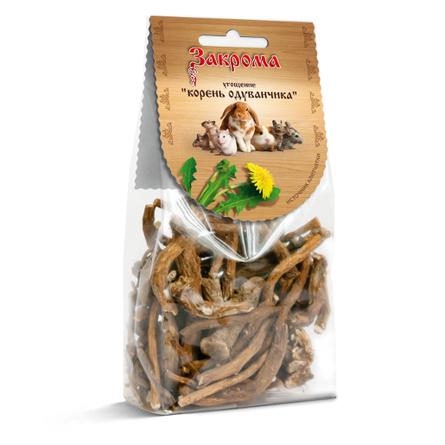Купить Закрома Корень одуванчика Лакомство для грызунов, 70 гр