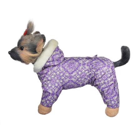 DogModa Комбинезон Winter для собак, длина спины 32 см, обхват шеи 33 см, обхват груди 52 см, девочка  - купить со скидкой