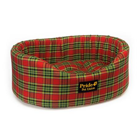 Купить Pride Комфорт Шотландия Лежак для собак и кошек, красный в клетку