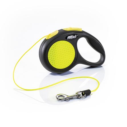 Flexi New Neon XS Поводок-рулетка для собак, черный/неон, трос
