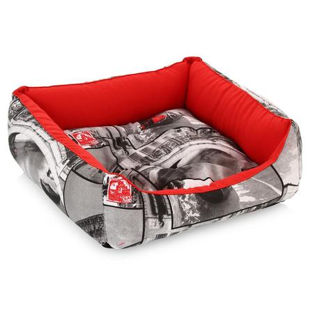 CLP Венеция Квадратная лежанка для собак и кошек, хлопок фото