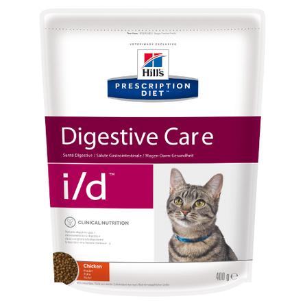 Купить Hill's Prescription Diet i/d Digestive Care Сухой лечебный корм для кошек при заболеваниях ЖКТ (с курицей), 400 гр, Hill's