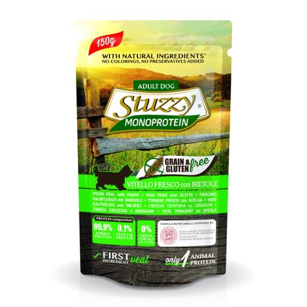 Stuzzy Monoprotein Влажный корм для взрослых собак всех пород (со свежей телятиной и свеклой), 150 гр фото